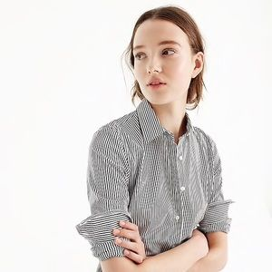 J Crew classic stripe stretch perfect shirt